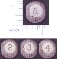 Dice : METAL STEEL D4 BEAR CUB MACHINE 02 GOLF BALL DIE