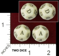 Dice : D12 OPAQUE ROUNDED SOLID ERIC HARSHBARGER MUSIC NOTE DICE