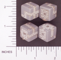 Dice : NUMBERED OPAQUE ROUNDED SOLID CHESSEX DUNGEONEER II 01