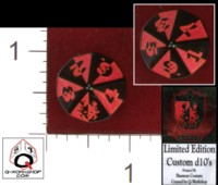 Dice : D10 OPAQUE ROUNDED SOLID Q WORKSHOP FOR KINGMAKER GAMES BY SHANNON COUTURE 01