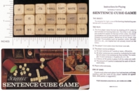 Dice : WOOD D6 SELCHOW AND RIGHTER SCRABBLE SENTENCE CUBES 01
