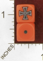 Dice : MINT28 NERO GAMING DICE AXIS GERMANY IRON CROSS 01