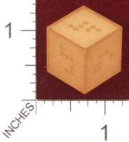 Dice : MINT28 SHAPEWAYS MCTRIVIA braille d6 01