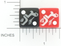 Dice : D6 OPAQUE ROUNDED SOLID GAMESTATION UNKNOWN BAND PROMO