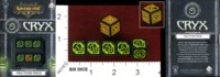 Dice : MINT35 PRIVATEER PRESS Q WORKSHOP WARMACHINE FACTION DICE CRYX