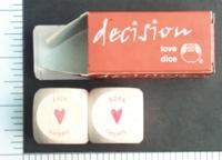 Dice : SEX BODY SHOP 01 DECISION LOVE DICE WOOD