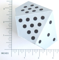 Dice : PAPER D10 PIPPED BOWLING OR POOL
