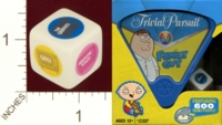 Dice : MINT20 USAOPOLY TRIVIAL PURSUIT FAMILY GUY TRAVEL EDITION 01