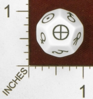 Dice : D12 OPAQUE ROUNDED SOLID  ERIC HARSHBARGER ASTRONOMY DIE 01