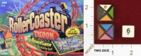 Dice : MINT22 PARKER BROTHERS ROLLER COASTER TYCOON 01