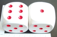 Dice : LOOSE WOOD RED PIPS
