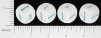 Dice : NON NUMBERED OPAQUE ROUNDED SOLID MEASUREMENT GRAMS LITERS METERS OUNCES 01