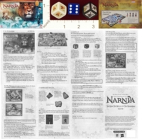 Dice : MINT20 MILTON BRADLEY THE CHRONICLES OF NARNIA THE LION THE WITCH AND THE WARDROBE GAME 01