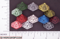 Dice : D10 OPAQUE ROUNDED SOLID Q WORKSHOP MAGE II 01
