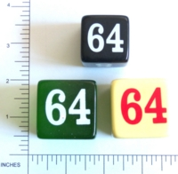 Dice : NON NUMBERED DOUBLING 01