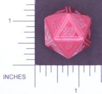 Dice : METAL ALUMINUM D20 01 CAVE BADGER 03 RED ETCHED EDGES