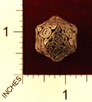 Dice : MINT22 SHAPEWAYS JENGINEER 20 SIDED DIE WITH LEAVES 04