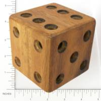 Dice : WOOD UNKNOWN D6 PUZZLE 01