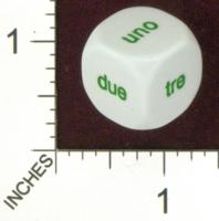 Dice : MINT19 KOPLOW ITALIAN WORDS FOR NUMBERS 02