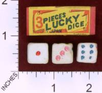 Dice : MINT29 UNKNOWN 3 PIECES LUCKY DICE MADE IN JAPAN 01