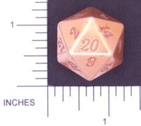 Dice : METAL ALUMINUM D20 01 CAVE BADGER 05 GOLD ETCHED