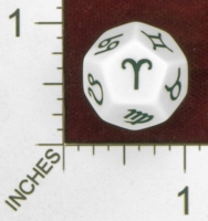 Dice : D12 OPAQUE ROUNDED SOLID  ERIC HARSHBARGER ZODIAC DIE 01
