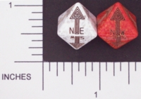 Dice : D8 OPAQUE ROUNDED SPECKLED WITH BLACK 03