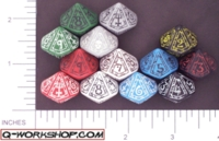Dice : D10 OPAQUE ROUNDED SOLID Q WORKSHOP MAGE 01