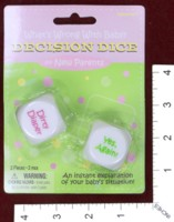 Dice : MINT36 AMSCAN WHATS WRONG WITH BABY DECISION DICE