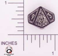 Dice : D10 CLEAR ROUNDED SOLID Q WORKSHOP MAGE II 02