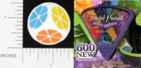 Dice : NON NUMBERED OPAQUE ROUNDED SOLID PARKER BROTHERS TRIVIAL PURSUIT BITE SIZE GENUS 01