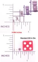 Dice : MINT1 BEAR CUB MACHINES WORLDS SMALLEST DICE 01
