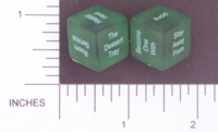 Dice : NON NUMBERED TRANSLUCENT ROUNDED SOLID DESTINY DICE CRUISE 01