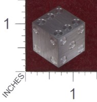 Dice : MINT36 CYBERNETIC RESEARCH LABORATORIES AMBER RIX MACHINED PRECISION DICE STEEL STAINLESS