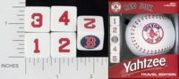 Dice : NUMBERED OPAQUE ROUNDED SOLID USAOPOLY BOSTON RED SOX YAHTZEE 01