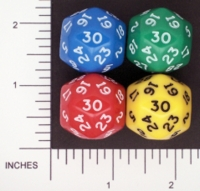 Dice : D30 OPAQUE ROUNDED SOLID FAMILY LEARNING 01