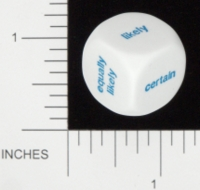 Dice : NON NUMBERED OPAQUE ROUNDED SOLID KOPLOW PROBABILITY 01