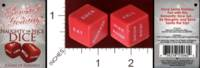 Dice : MINT29 CLASSIC EROTICA SENSUAL HOLIDAY NAUGHTY OR NICE DICE 01