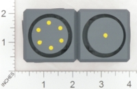 Dice : MINT17 ACE PRECISION r AND D FLOATING FACE BLACK PVC 01