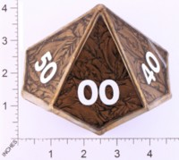 Dice : LOOSE GLASS CREATIONS STAINED GLASS D10 02