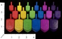 Dice : MINT33 JEWISH EDUCATIONAL TOYS PLASTIC DREIDELS 01