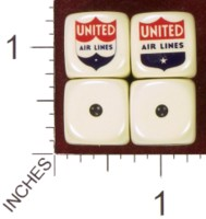 Dice : MINT35 HOMEMADE UNITED AIRLINES 03