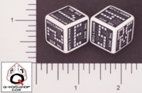 Dice : NUMBERED OPAQUE ROUNDED SOLID Q WORKSHOP DICE MANIACS CLUB 02