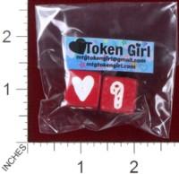 Dice : MINT38 TOKEN GIRL HEART CANDY CANE