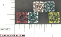 Dice : NUMBERED OPAQUE ROUND SOLID Q WORKSHOP SKULLY SUPER FULL 01