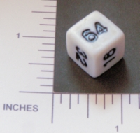 Dice : NON NUMBERED OPAQUE ROUNDED SOLID DOUBLING 02