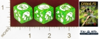 Dice : MINT25 BLUE KABUTO COOKIE FU FORTUNE CHARACTER DIE VANILLA HARE 01
