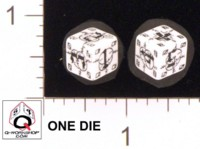Dice : NUMBERED OPAQUE ROUNDED SOLID Q WORKSHOP DOGTAG BATTLE GERMAN 01