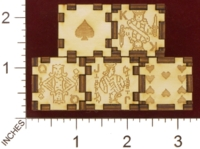 Dice : MINT28 J AND S CUSTOME LASER ENGRAVING POKER 02