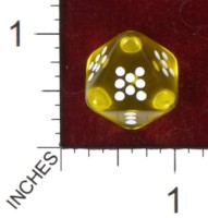 Dice : D8 CLEAR ROUNDED SOLID CHESSEX PIPPED